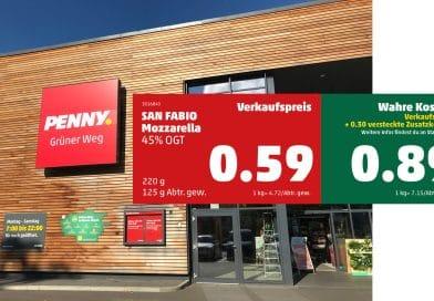 """Penny """"Nachhaltigkeitsmarkt"""" in Berlin Spandau mit True-Cost-Preisen, von den Universitäten Augsburg"""
