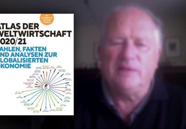 """Standbild: """"Wohin treibt die Weltwirtschaft?"""" Heiner Flassbeck im Gespräch mit den Buchkomplizen"""