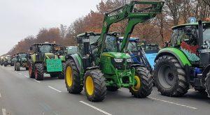 Landwirte zur Bauerndemo in Berlin