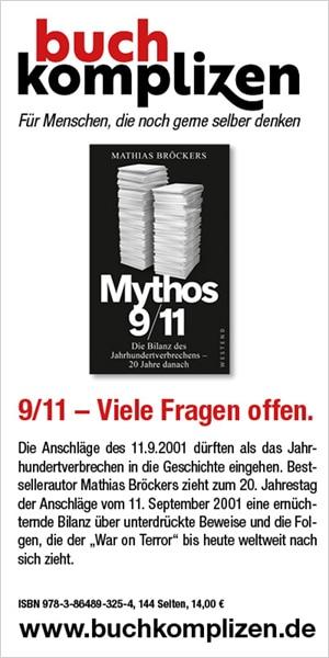 "Banner Mathias Bröckers ""Mythos 9/11"""