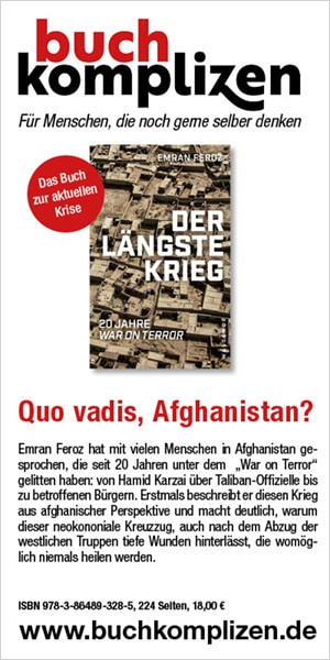 """Anzeige Emran Feroz """"Der längste Krieg"""""""