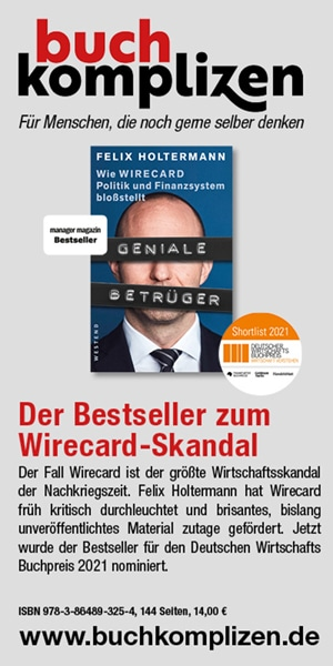 """Banner Felix Holtermann """"Geniale Betrüger"""""""