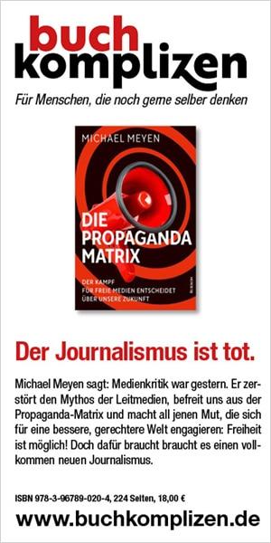 """Banner Meyen """"Propaganda Matrix"""""""