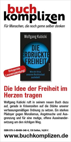 Anzeige Kubicki - Die erdrückte Freiheit